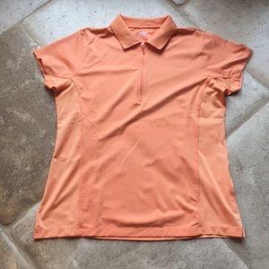 Women's Peter Millar Golf Top Short Sleeve Sz L